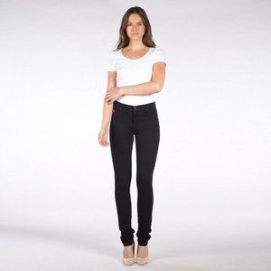 NEW Second Yoga High Rise Skinny in Overdye Black